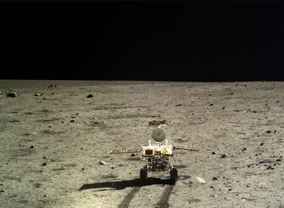 China's Yutu rover scoots around on the Moon in this undated photo. The mission began in December 2013. Credit: Chinese Academy of Sciences