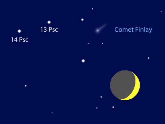 See a Rare Comet-Moon Conjunction Tonight