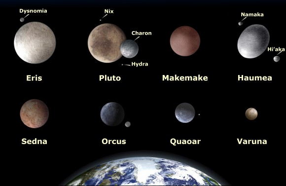 The presently known largest small bodies in the Kuiper Belt are likely not to be surpassed by any future discoveries. This is the conclusion of Dr. Michael Brown, et al. (Credit: NASA)