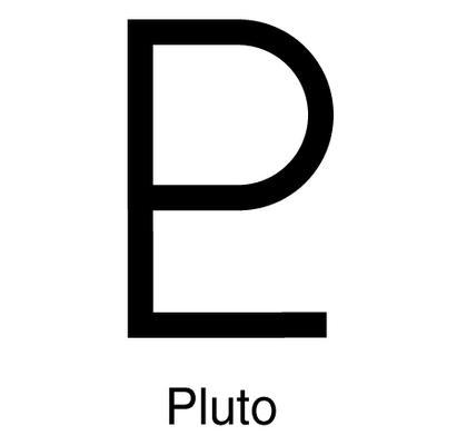 Symbol for Pluto