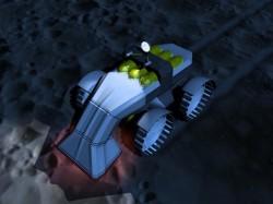 Artist's illustration of a robotic miner. Image credit: NASA