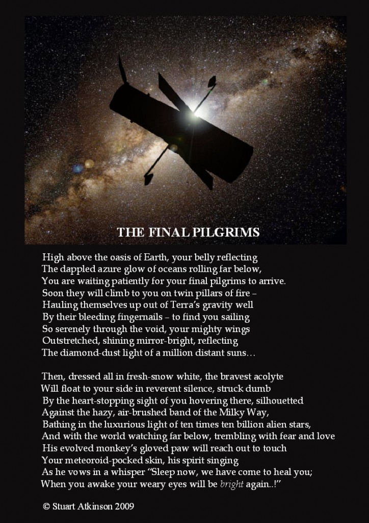 Poetry in Space: Final Pilgrims to the Hubble Space Telescope