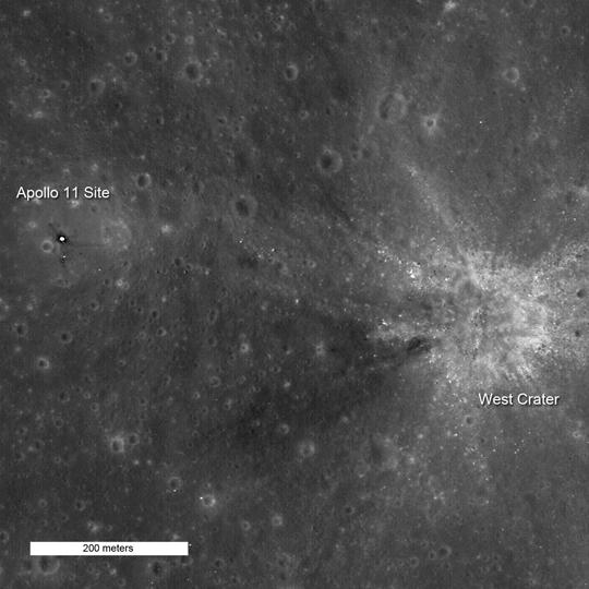 LRO's Closer Look at Apollo 11 Landing Site