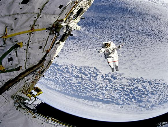 jumping astronaut in space - photo #10