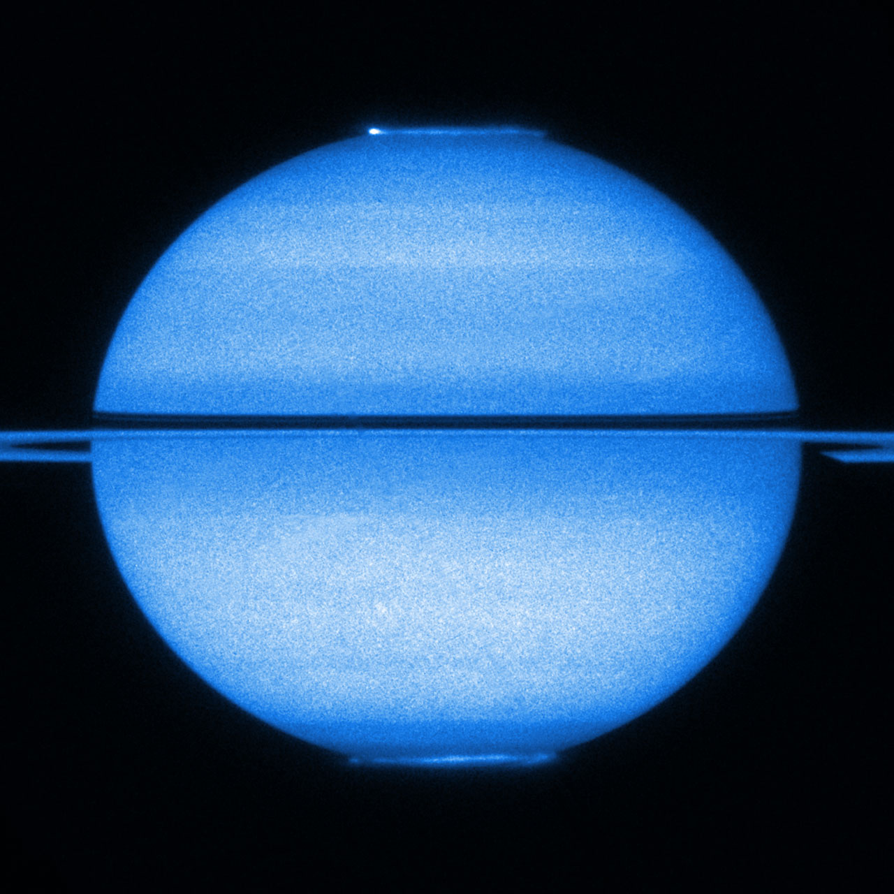 Hubble Captures Double Aurorae Light Show on SaturnView Of Sun From Saturn