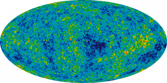 WMAP data of the Cosmic Microwave Background. Credit: NASA