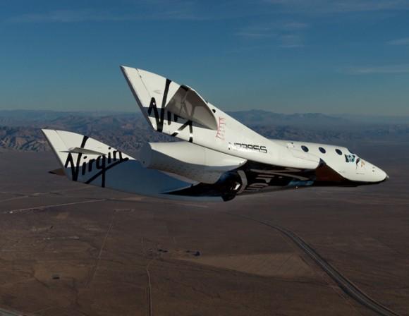 Virgin Galactic's SpaceShipTwo during a test flight. Credit: Virgin Galactic