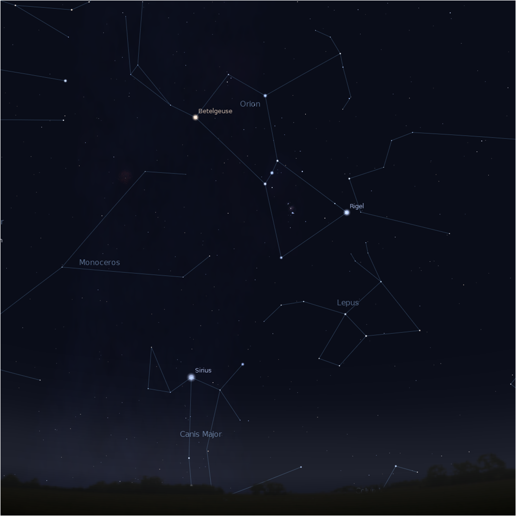 Orion and Sirius Credi...