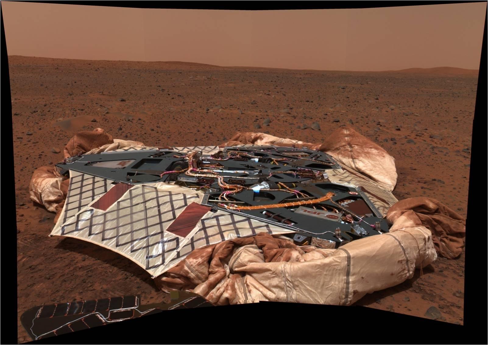mars rover landing airbags - photo #20
