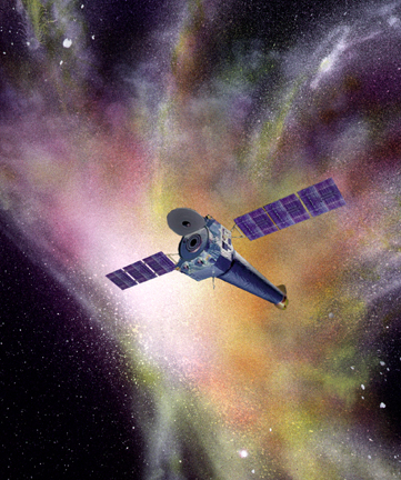 Artist's conception of the Chandra X-Ray Observatory. Credit: NASA