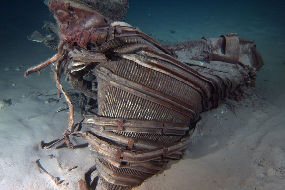 Nozzle on the ocean floor. Credit: Bezos Expeditions
