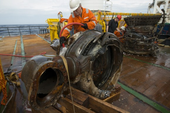 Gas Generator and Manifold. Credit: Bezos Expeditions