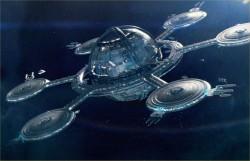 A Star Trek-inspired space station.