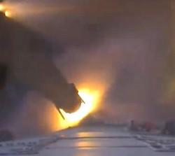 Separation of an Ariane booster (Screenshot)