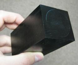 A block of tissue-equivalent plastic (Credit: UNH)