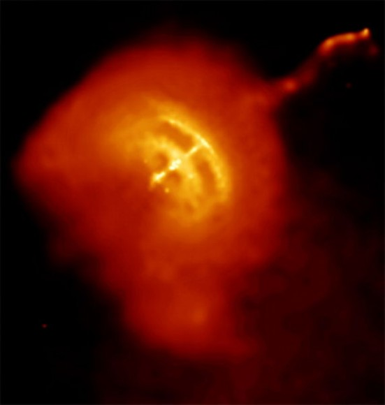 An x-ray image of the Vela pulsar, one of the brightest known millisecond pulsars. Credit: NASA/CXC/PSU/G.Pavlov et al.