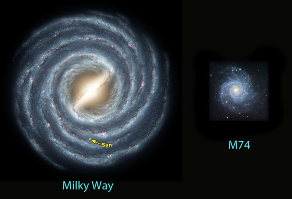milky way galaxy with measurements - photo #10