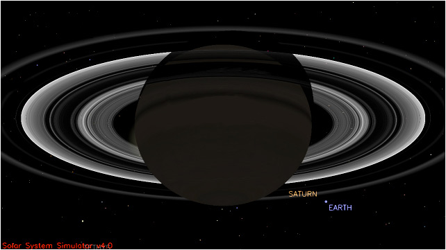 Sneak Peeks of the Earth and Saturn Panorama from Cassini ... View Of The Sun From Saturn