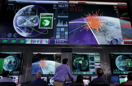 The control center display of the prototype for the next generation Space Fence. (Credit: Lockheed Martin).