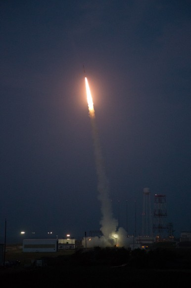 A Terrier-Improved Malemute suborbital rocket carrying experiments developed by university students nationwide in the RockSat-X program was successfully launched at 6 a.m. EDT August 13.  Credit: NASA/Brea Reeves