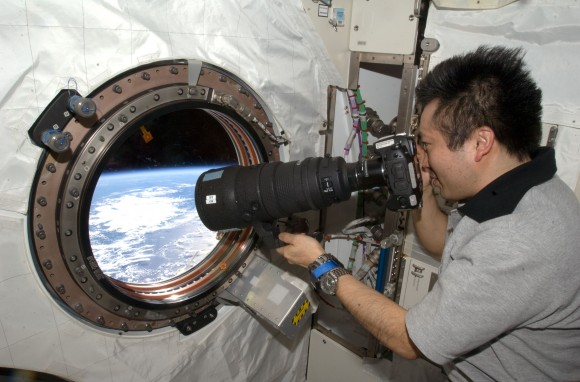 JAXA astronaut Koichi Wakata takes photos of Earth during Expedition 19/20 in 2009. Credit: NASA