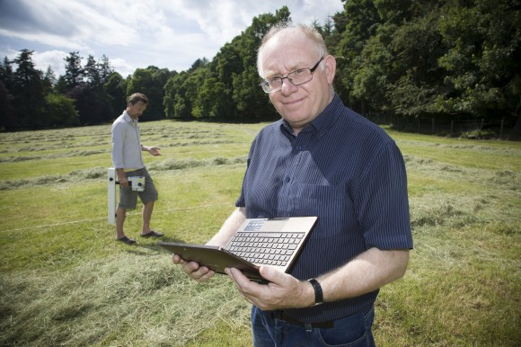 Vince Gaffney professor of Landscape and Archaeology at University of Birmingham in Warren Field, Crathes, Aberdeenshire where the discovery was made.
