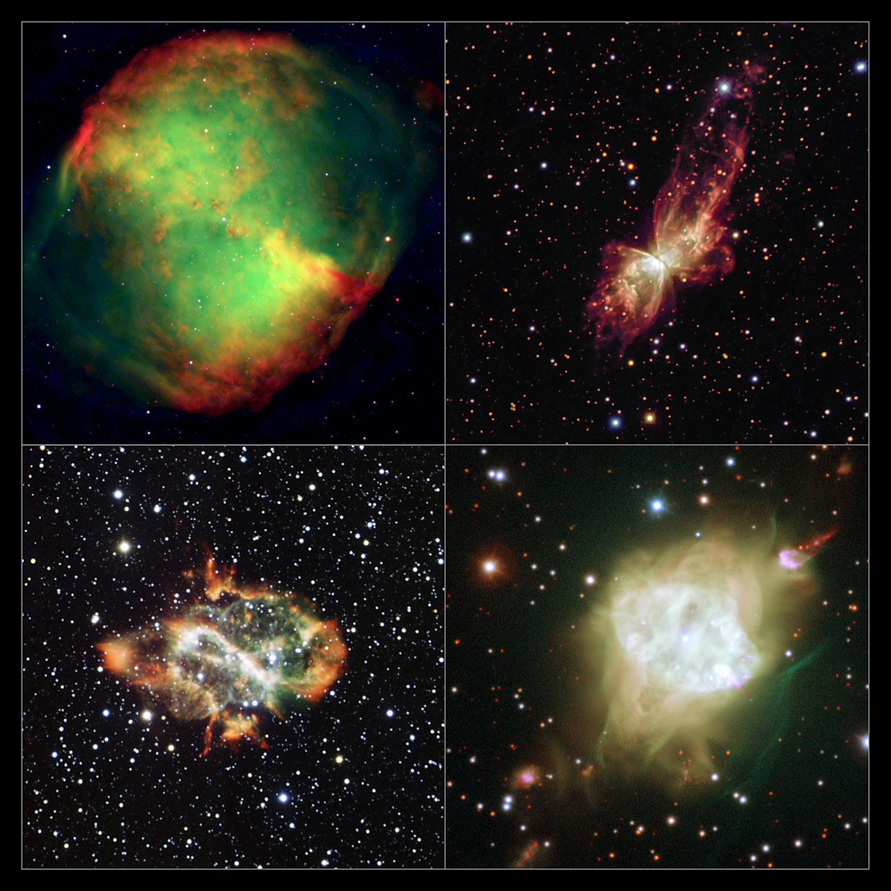 Hubble and NTT Capture Strange Alignment of Planetary Nebulae