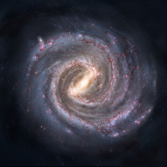 Artist's conception of the Milky Way galaxy. Credit: Nick Risinger