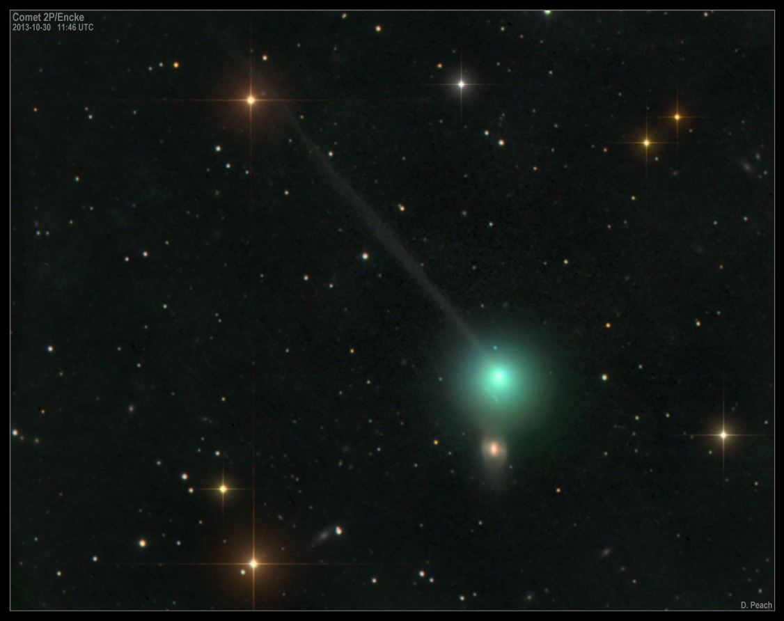 Comets Encke and ISON Spotted from Mercury