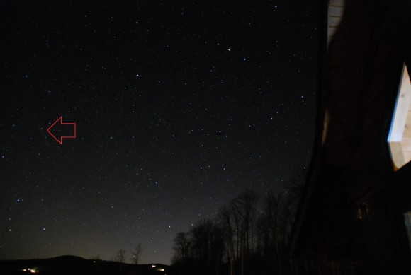 A 2012 Geminid captured by the author from Mars Hill. North Carolina.