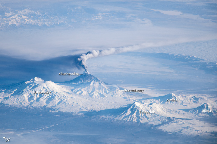 Awesome 'Sideways' View from Space of the Erupting ...