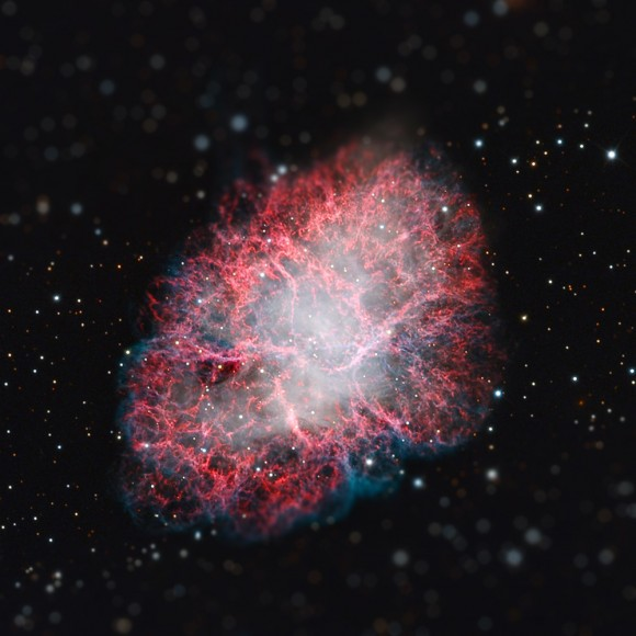A tiny Crab Nebula (see original Spitzer image here)