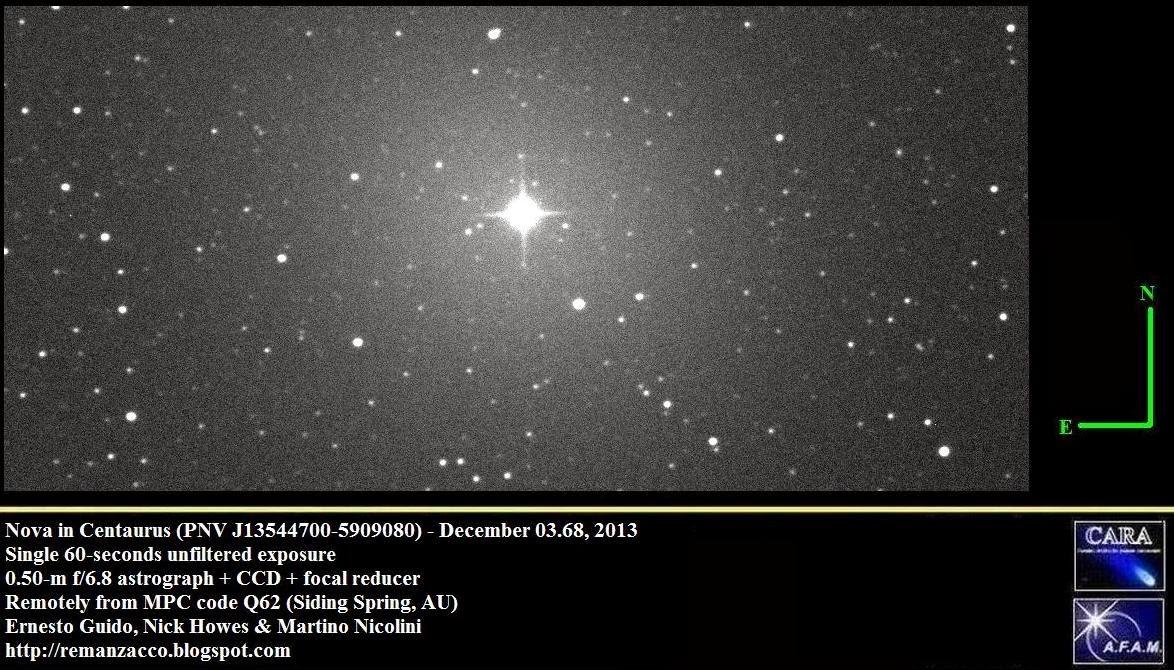 A Naked Eye Nova Erupts In Centaurus