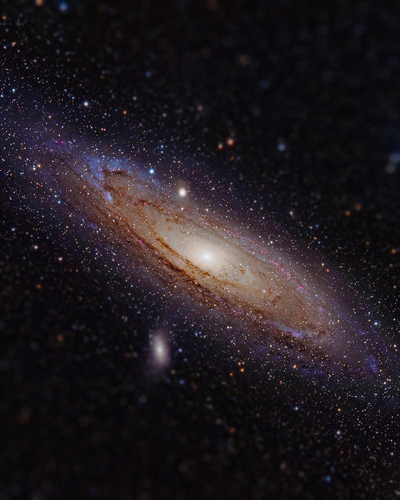 A tiny Andromeda Galaxy (see original here)