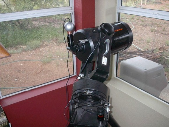 """Converted """"Planetcam"""" installed on the 'scope."""