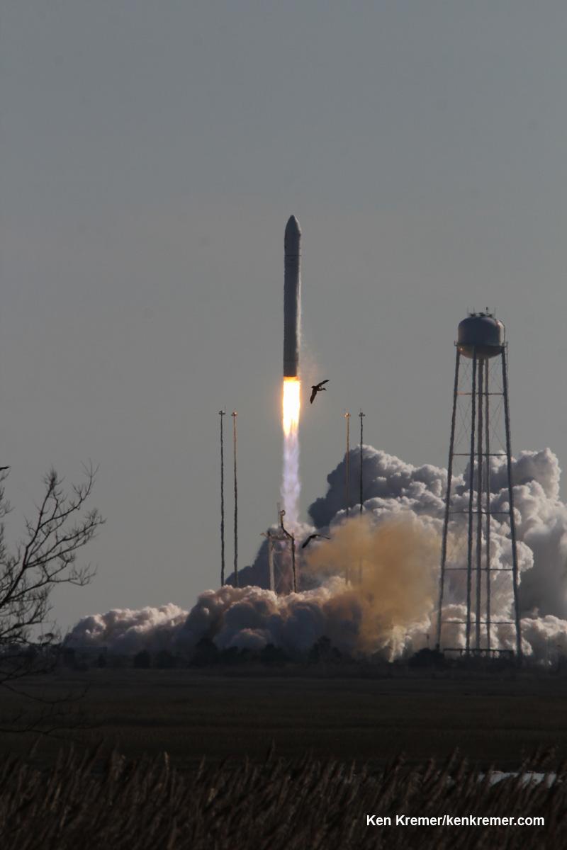 Antares Private Rocket Thunders off Virginia Coast bound ...