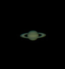Saturn as imaged by the author in 2012.