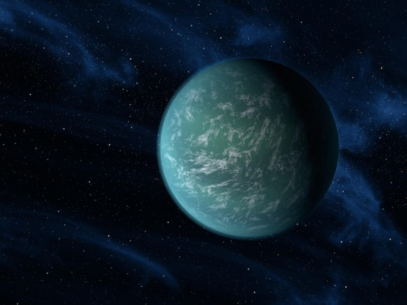 Meet Kepler-22b, an exoplanet with an Earth-like radius in the habitable zone of its host star. Unfortunately its mass remains unknown. Image Credit: NASA