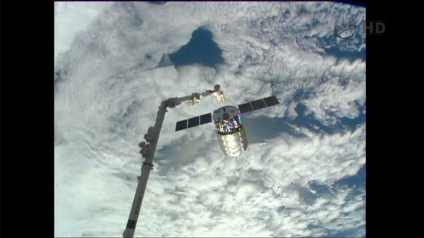Private Cygnus Cargo Carrier departs Space Station Complex
