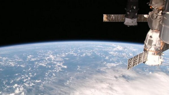 Screenshot from the HDEV cameras on the International Space Station. Via @ISS101