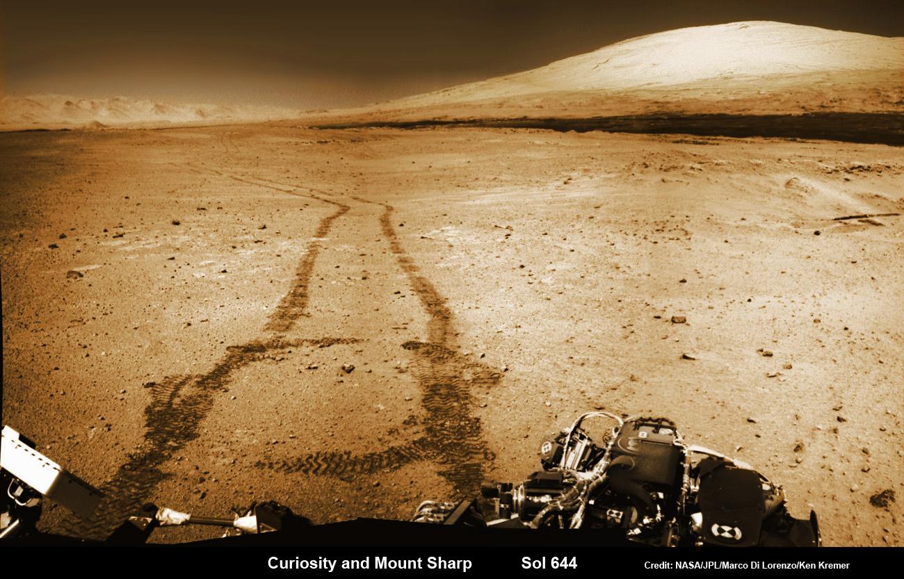 Curiosity Marks Milestone Anniversary – 1 Martian Year On ...