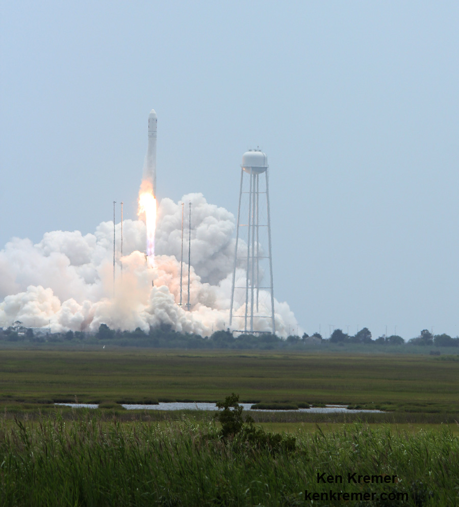 Commercial Antares Resupply Freighter Thunders Aloft to ...