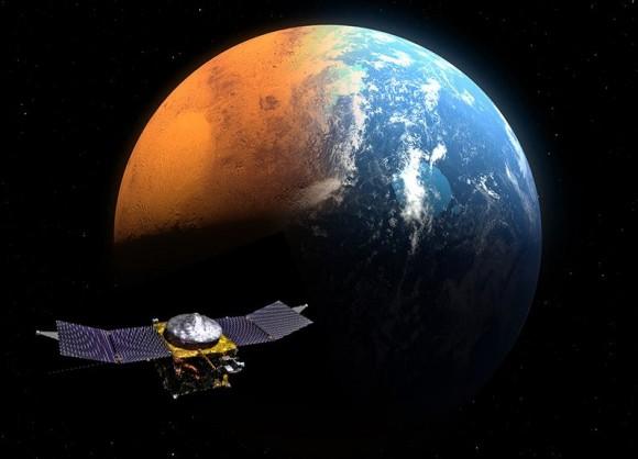 NASA's MAVEN Orbiter 3 Weeks and 4 Million Miles from Mars