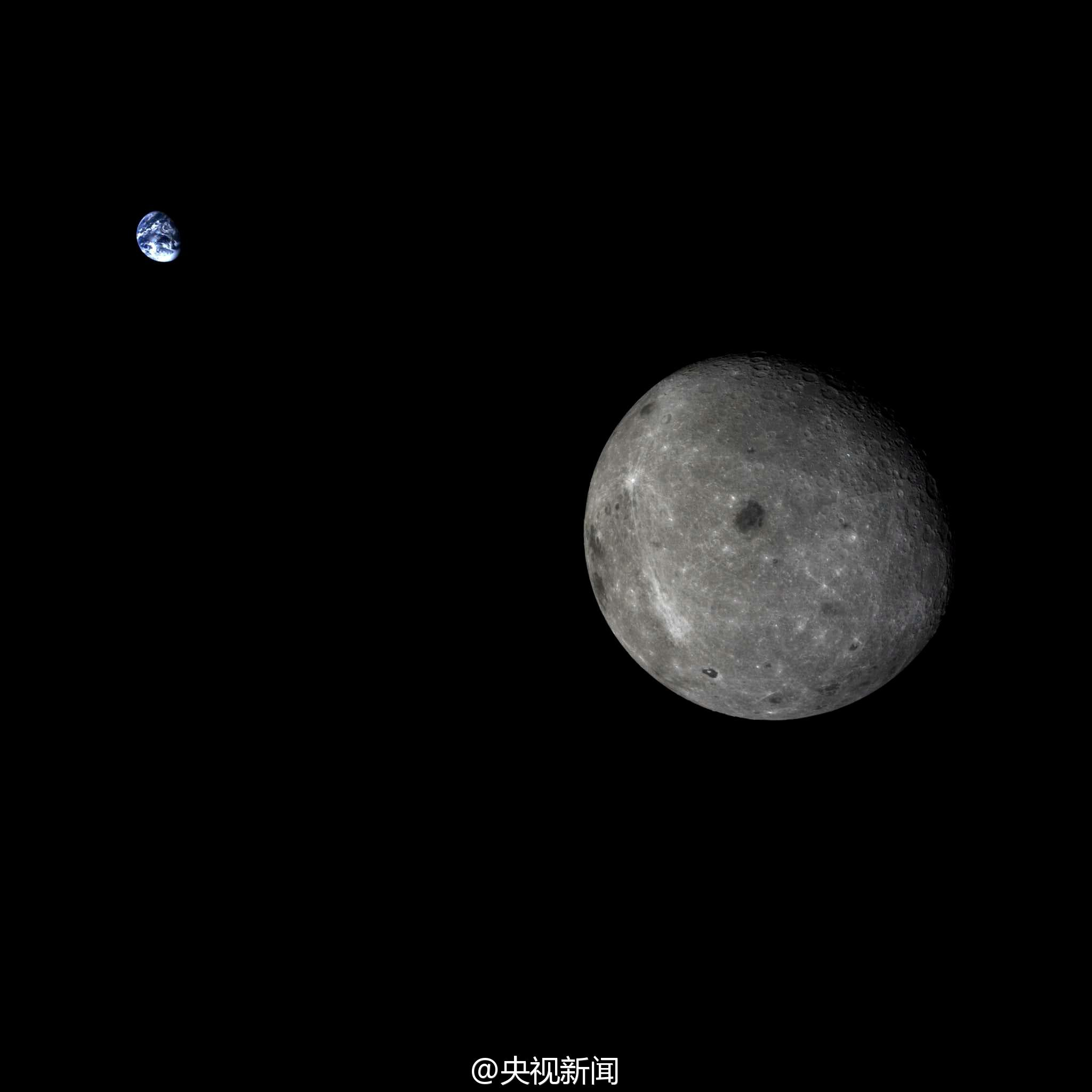 earth and moon together -#main