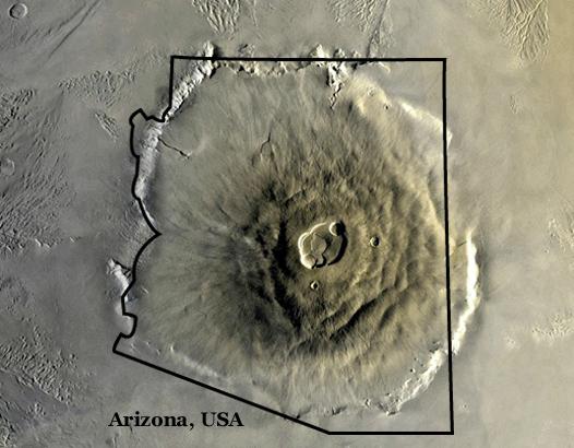 nasa mars volcano biggest one - photo #17