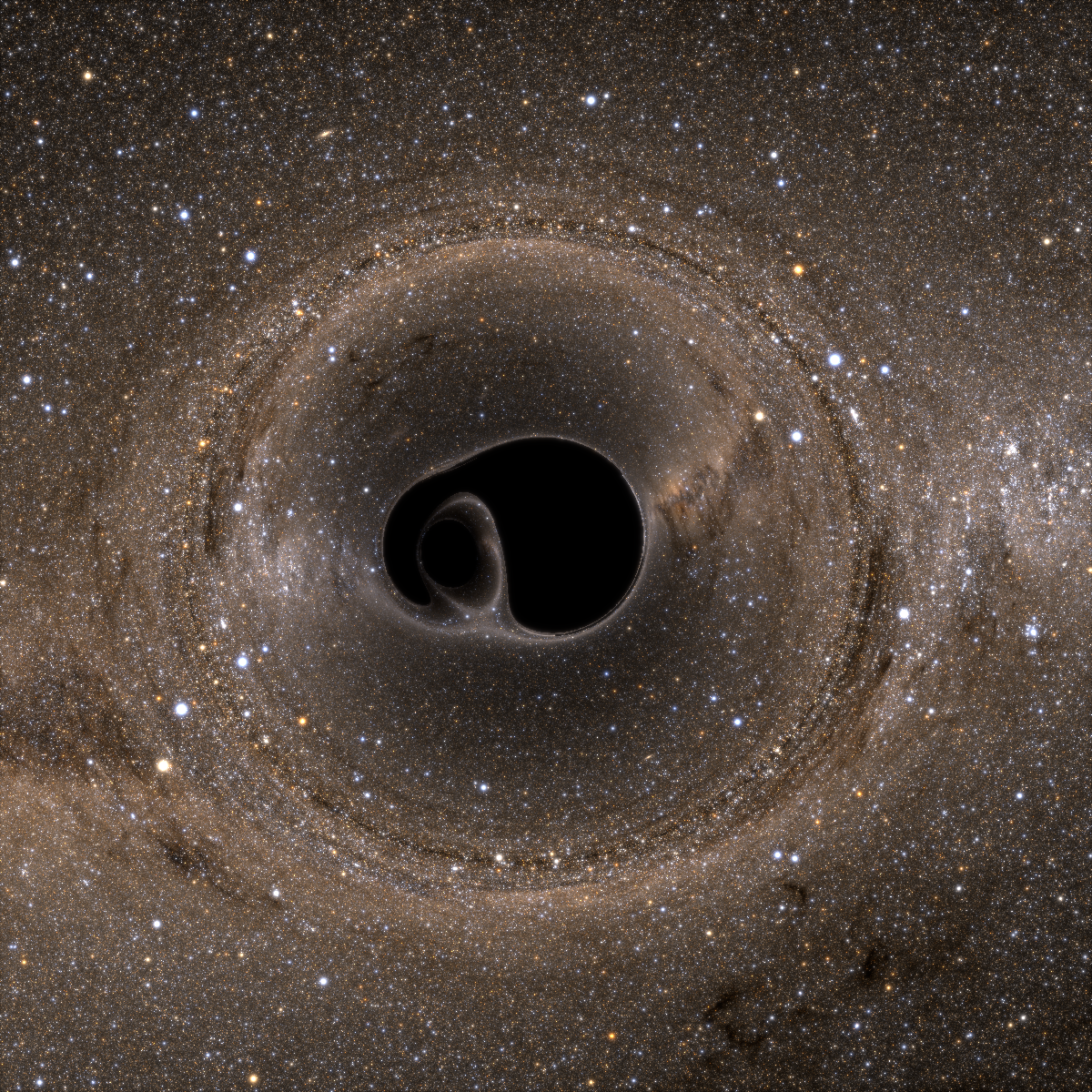 New Simulation Offers Stunning Images of Black Hole Merger