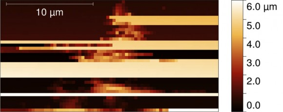 Image of the first dust grain captured by MIDAS. Credit: