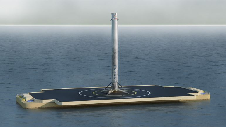 One Of The Possible Outcomes Today Falcon 9 Sits On Barge Ready
