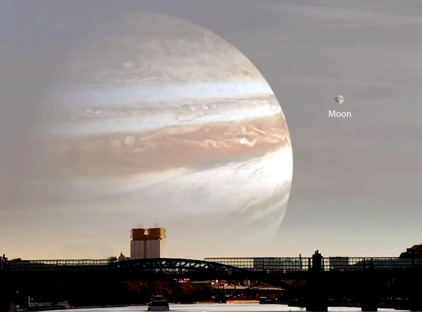 If Jupiter as Our Moon - Pics about space